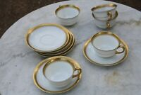 Pirkenhammer Gold Encrusted  5 Cups and Saucers