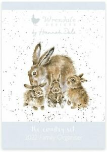 Wrendale Designs Animal Illustrated 2022 Family Wall Organiser Calendar 30x42cm