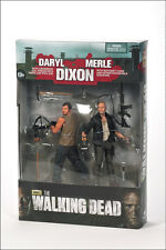 """DARYL AND MERLE DIXON TWIN PACK THE WALKING DEAD TV SERIES 5, 5"""" ACTION FIGURE"""