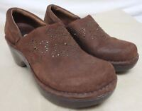 ARIAT Womens Brown Nubuck Western Strathmore Clogs Style 21203 Size 8.5 B