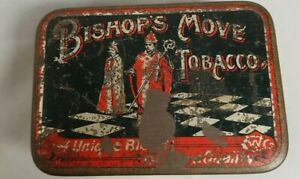 Vintage Advertising Bishops Move Tobacco Tin