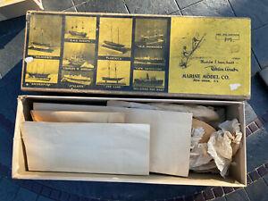 Vintage Marine Model Co. Ship Model Kit #1095 Year 1941 AS IS