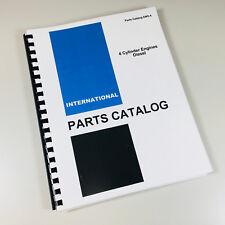 INTERNATIONAL 7000 FORKLIFT BD-154 4 CYLNDR DIESEL ENGINE PARTS CATALOG