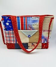 American Flag Old Glory Quilted Patch Hand Bag Tote We The People Vintage