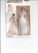 1980's VTG Butterick Misses' Wedding Dress Pattern 4647 Size 8 UNCUT