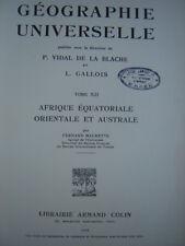 livre 1938 AFRIQUE EQUATORIALE,ORIENTALE,AUSTRALE CONGO GABON SOUDAN EGYPTE MADA
