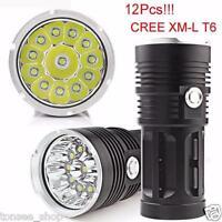 30000LM 12 X CREE XM-L T6 LED Taschenlampe 3 Modi Torch 4 x 18650 Jagd Lampe