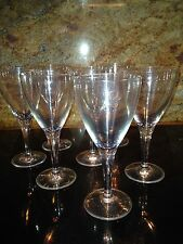 """Seven Wine Glasses Clear Plastic/ Perfect for """"To Go""""/ 8.25"""" x 3.25"""" and 3"""" Foot"""