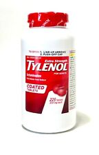 TYLENOL Coated Extra Strength 225 Tablets 500 MG Acetaminophen