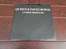 "Queen & David Bowie 7"" vinyl - Under Pressure / Soul Brother German Import"