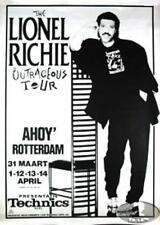 LIONEL RICHIE 1986 AMSTERDAM CONCERT TOUR  POSTER