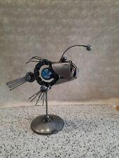 Fish Metal Art, Welded Fish- Sculpture- Metal Art- Scrap Metal - Steampunk