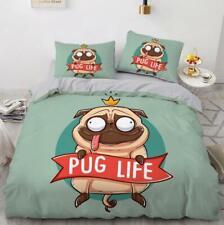 3D Pug Life Crown Pet Dog KEP6604 Bed Pillowcases Quilt Duvet Cover Kay