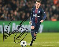 Foto Autografo Calcio Marco Verratti Asta di Beneficenza Soccer Coa Signed Sport