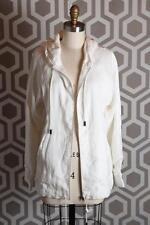 NWT Rag & Bone Jeans White Linen Beach Hoodie Jacket Small S $395