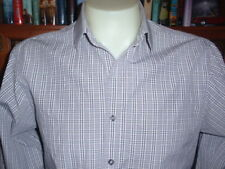 MICHAEL KORS 100% Cotton Men's Shirt Size 15.5 Long Sleeve Spread Collar NWOT