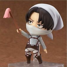 Anime Attack on Titan Nendoroid #417 Levi Cleaning Ver. PVC Figure in Retail Bo