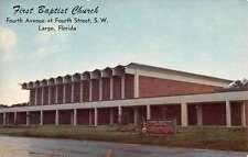 Largo Florida First Baptist Church Street View Vintage Postcard K68736