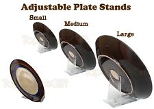 Adjustable Sliding Plastic Plate Disk Display Dish Bowl Stand Holder Mount