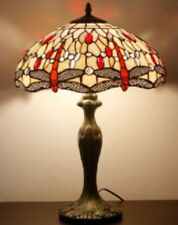 Tiffany Style Table Lamp Handcrafted Lamps Desk Art Bedside Stained Glass Light