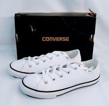 Converse CTAS 609058C Lo Leather Junior Kid White Size 2 US