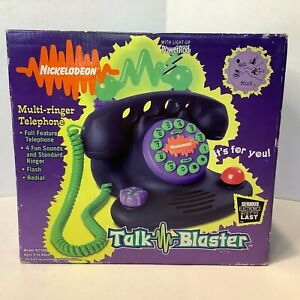 Vintage 1997 Nickelodeon Talk Blaster Telephone N2500 Lights & Sounds w/Box