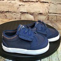Sperry Top Sider SP Deckfin Crib Jr Navy Blue Baby Infant Shoes Size 2 M
