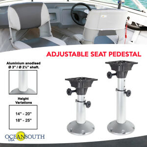 Low Boat Seat Pedestal with Stainless Steel Base SPORT MASTER Two Bass Boat 3 Pieces Hi