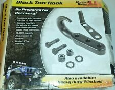 Rugged Ridge 42-02 Jeep CJ & Wrangler Front Tow Hook Black  #11236.02