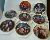 Set of 8 STAR TREK THE NEXT GENERATION Episodes Plate Collection with COA