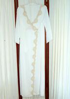 Women's VINTAGE 1950s Robe FLAIR Wrap Nylon Chantilly Lace Chalk White 36 M