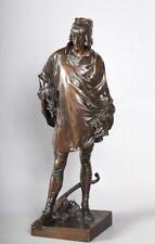 Jean-François Marie ETCHETO 1853/1889, Le poète François Villon, Bronze