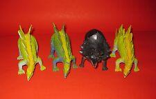 4 x Vintage Dinosaurs 1987 Triceratops Stegosaurus Imperial Mold Ko Hand-Painted