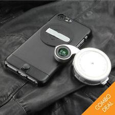 ZTYLUS ZIP-6PL Camera Kit iPhone 6 Plus Case & RV-2 Lense (Leather Textured)BK