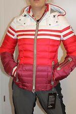 Bogner TEA D Damen Ski Jacke Rot Weiß Größe S 36 Neu mit Etikett UVP 1400 Euro