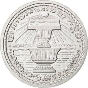 [#84608] CAMBODIA, 20 Centimes, 1953, KM #E10, MS(63), Aluminium, Lecompte #151
