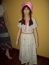 Girls 1900s VICTORIAN Edwardian Costume Music Man Dress Pioneer Prairie 9/10