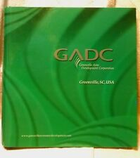 Greenville SC Area Economic Development Corp 3 ring Binder with 2 Maps and Info