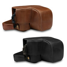 MegaGear Ever Ready Genuine Leather Camera Case for Sony A6100, A6400(16-50mm)