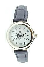 New Boys / Ladies Size Masonic Mason Square And Compass Quartz Watch