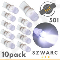 T10 501 W5W LED CAR SIDE LIGHT BULBS 12V NUMBER PLATE INTERIOR WEDGE XENON 10x