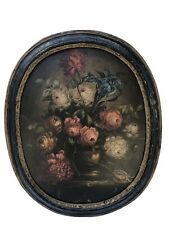 Large Old Masters Style Antique French School Still Life In Its Original Frame