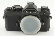 【 MINT w/ Body Cap 】 Nikon FM Black 35mm SLR Film Camera Body From JAPAN #173