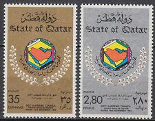 Qatar 1983 ** Mi.854/55 Rat der Golfstaaten GCC Supreme Council
