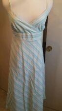 Jcrew size 2 spaghetti strap knee length Dress multi color strips