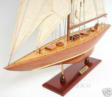 """Enterprise 1930 America's Cup Yacht J Class Boat Wooden Model 25"""" Sailboat New"""