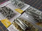 Eyelet Kit with Tool 36 Sets Silver White Black Gold Metal BIRCH Small 5mm hole