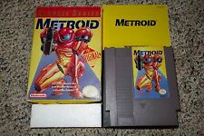 Metroid YELLOW (Nintendo NES) Complete in Box A FAIR