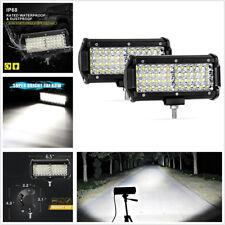 2 X Waterproof 6.5'' Quad Row CREE LED Car ATV Working Driving Lights Spot Lamps