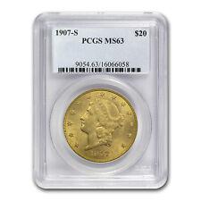 1907-S $20 Liberty Gold Double Eagle MS-63 PCGS - SKU #72257